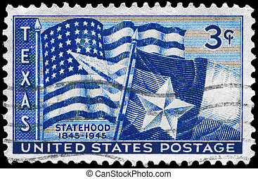 USA - CIRCA 1945 Texas Statehood - USA - CIRCA 1945: A Stamp...