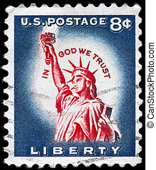 USA - CIRCA 1958 Liberty - USA - CIRCA 1958: A Stamp printed...