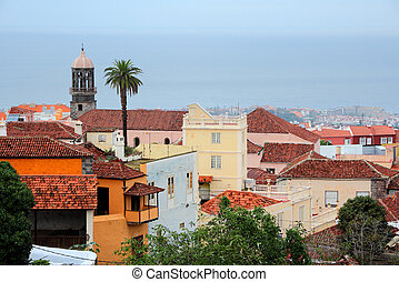 La Orotava - Tenerife, Canary Islands, Spain - Old Town of...