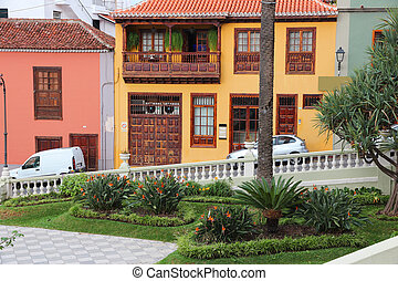 Orotava, Tenerife - Tenerife, Canary Islands, Spain - Old...