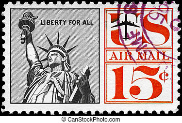 USA - CIRCA 1959 Liberty - USA - CIRCA 1959: A Stamp printed...