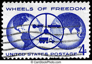 USA - CIRCA 1960 Wheels of Freedom - USA - CIRCA 1960: A...