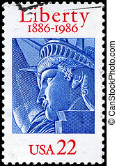 USA - CIRCA 1986 Liberty - USA - CIRCA 1986: A Stamp printed...