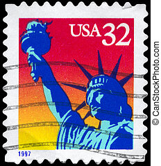 USA - CIRCA 1997 Liberty - USA - CIRCA 1997: A Stamp printed...