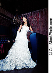 luxury dress - Beautiful bride in a luxurious restaurant....