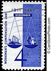 USA - CIRCA 1961 Scales of Justice - USA - CIRCA 1961: A...