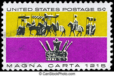 USA - CIRCA 1965 Magna Carta - USA - CIRCA 1965: A Stamp...