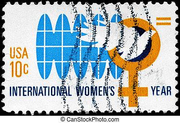 USA - CIRCA 1975 Equality for Women