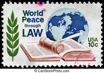 USA - CIRCA 1975 World Peace - USA - CIRCA 1975: A Stamp...