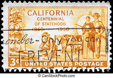 USA - CIRCA 1950 California Statehood - USA - CIRCA 1950: A...