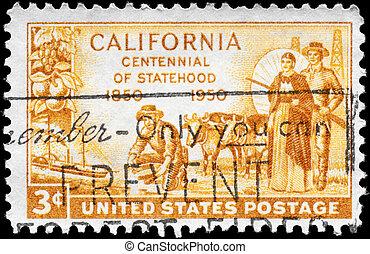 USA - CIRCA 1950 California Statehood - USA - CIRCA 1950: A...
