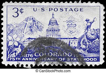 USA - CIRCA 1951 Colorado Statehood - USA - CIRCA 1951: A...