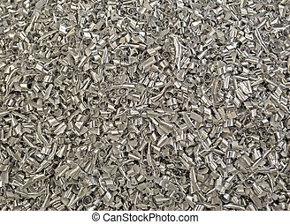 abstract metal garbage heap, industrial dust - focus on...