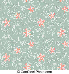 Floral ornament. Vector illustration of summer background