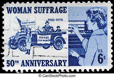 USA - CIRCA 1970 Woman Suffrage - USA - CIRCA 1970: A Stamp...
