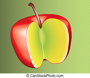 red apple design in 3D with textured background