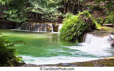 Waterfall named Chet Sao Noi in Saraburi, Thailand