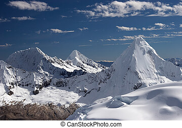 Three summits - Artesonraju, Alpamayo and Quitaraju...