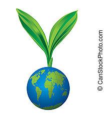 Green world concept vector