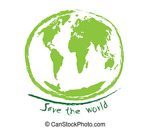 Save the world sketch idea concept - The abstract of Save...