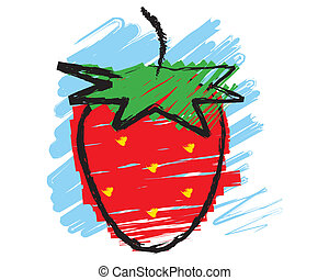 Sketch of a strawberry
