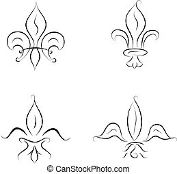 fleur de lis - fleur de lys collection, vector illustration