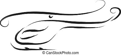 helicopter - abstract helicopter vector illustration sketch
