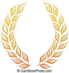 laurel wreath - golden laurel wreath vector illustration