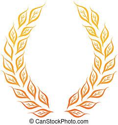 laurel wreath - golden laurel wreath vector illustration