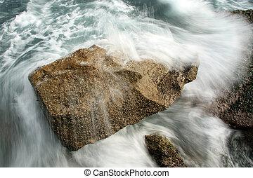 Wave Crahsing - Botany Bay, Sydney, Australia