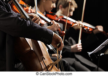 Classical music concert - Symphony concert, a man playing...