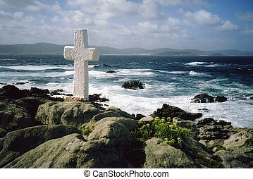 Cross near the ocean - Cross near the sea - Costa da Morte