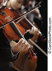 Classical music. Violinists in concert - Symphony music,...