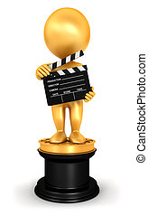 3d white people oscar - 3d white people golden oscar,...