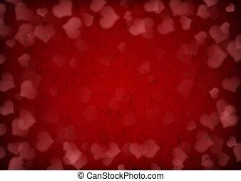 Valentine's day background - Red grunge Valentine's day...