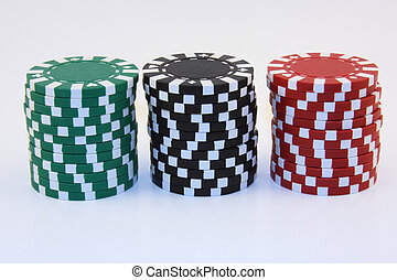 Red Green and Black Chips