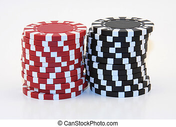 Red And Black Poker Chips