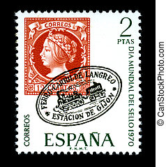 Mail Stamp Spain 1970