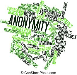 Word cloud for Anonymity - Abstract word cloud for Anonymity...