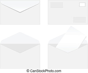 Blank vector envelopes - Set of blank vector envelopes...