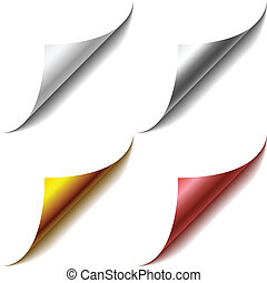 Curled page corners. - Vector set of curled page corners....