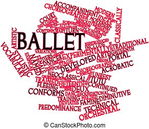 Word cloud for Ballet - Abstract word cloud for Ballet with...