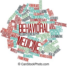 Behavioral medicine - Abstract word cloud for Behavioral...