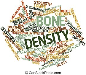 Bone density - Abstract word cloud for Bone density with...