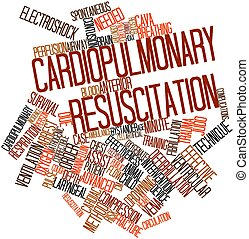 Cardiopulmonary resuscitation - Abstract word cloud for...