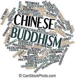 Word cloud for Chinese Buddhism - Abstract word cloud for...