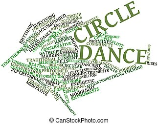 Circle dance - Abstract word cloud for Circle dance with...
