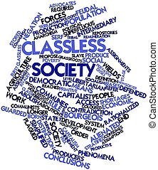 Word cloud for Classless society - Abstract word cloud for...