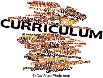Curriculum - Abstract word cloud for Curriculum with related...
