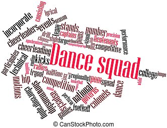 Word cloud for Dance squad - Abstract word cloud for Dance...